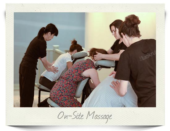 On Site massage company in London