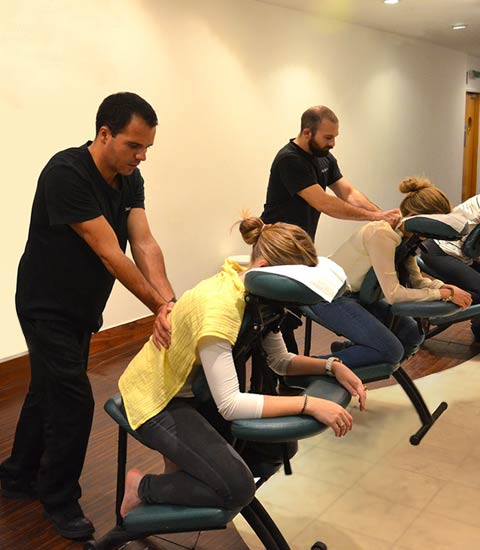 Book on to our Acupressure Chair massage course