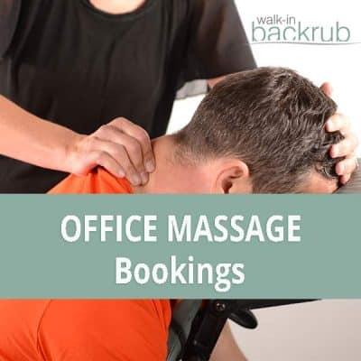 Book an office massage company