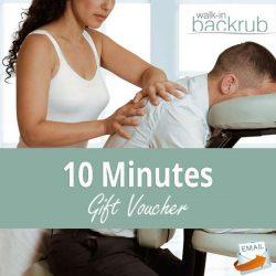 Buy 10 minute massage gift voucher sent via email