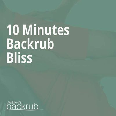 Walk-in Backrub Massage voucher 10 Minutes