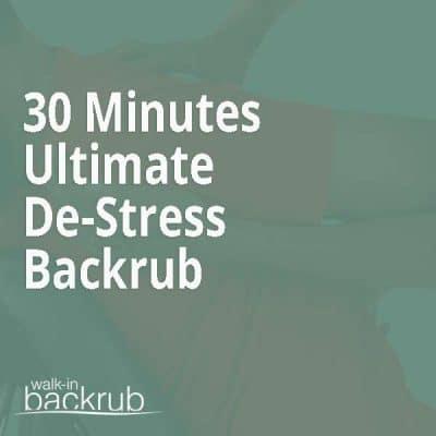 Walk-in Backrub Massage voucher 30 Minutes