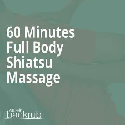 buy 1 hour Shiatsu Massage voucher